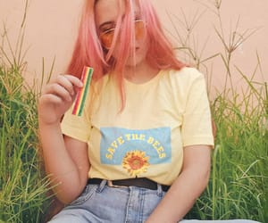 90s, sunflower, and yellow image
