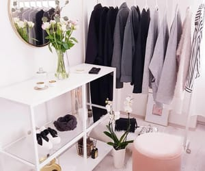 clothes rack, decor, and decoration image