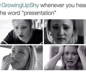true, shy, and presentation image