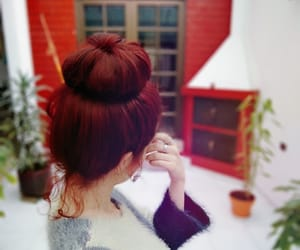 hair, redhair, and woman image