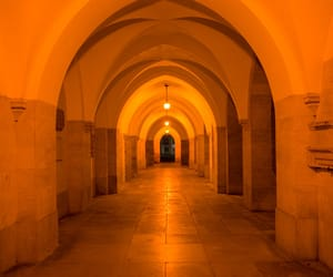 architecture, archway, and orange image