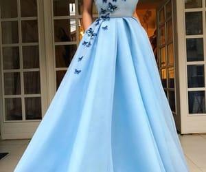 blue, dress, and beauty image