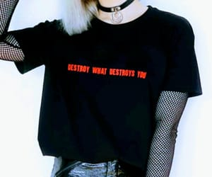 black, grunge, and fashion statement image