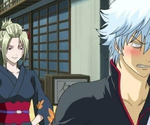 gintama, tsukuyo, and gintoki image