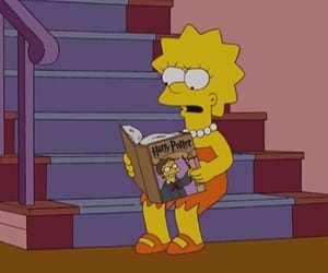 harry potter, book, and the simpsons image