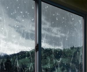 gif, rain, and anime image