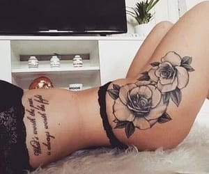 flower, pretty, and tattoo image