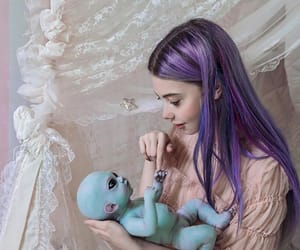 alien and girl image