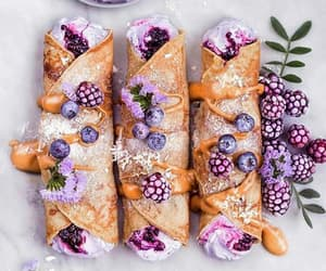 food, dessert, and purple image