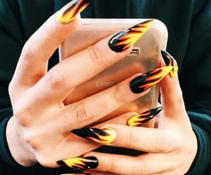 fashion, fire, and nails image