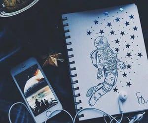 drawing, art, and stars image