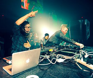 skrillex, music, and party image