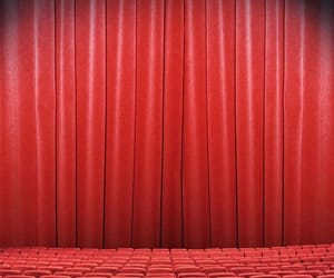 red, theater, and trate image