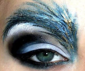 azul, belleza, and maquillaje image