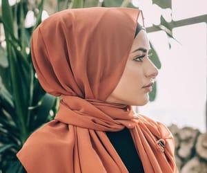 hijab, model, and islam image