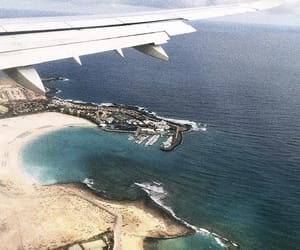 airport, fly, and sea image
