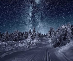 cold, norway, and road image