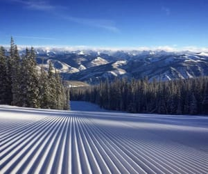 morning, mountains, and Skiing image