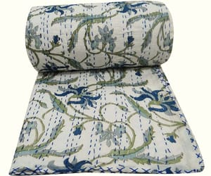 bedspread, home decor, and cotton blanket image