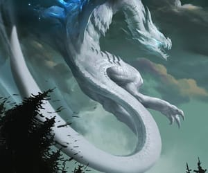 fantasy, dragon, and art image