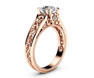 etsy, filigree ring, and rose gold ring image