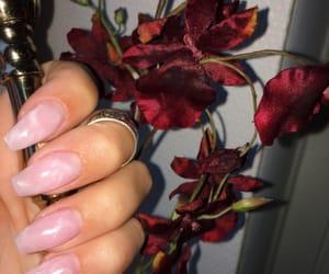gold, nails, and gel nails image