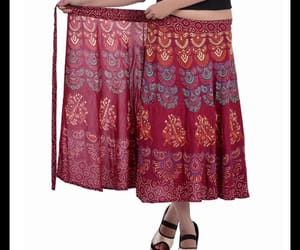 long skirt, floral prints, and skirts image