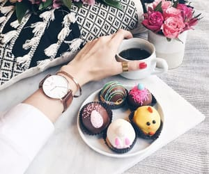 coffee, pink, and watches image
