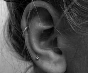 piercing, black, and earrings image