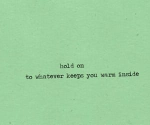 quotes, hold on, and warm image