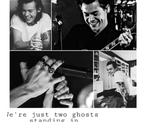 black and white, Harry Styles, and lookscreen image