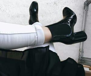 beautiful, fashion, and black boots image