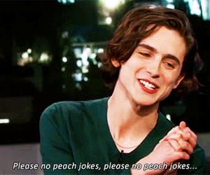 gif, timothee chalamet, and cute image