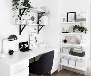 bedroom, black and white, and Chambre image