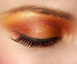 beauty, makeup, and orange image
