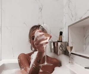 aesthetic, bubble bath, and fancy image