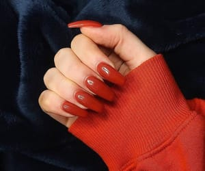 nails, red, and red nails image