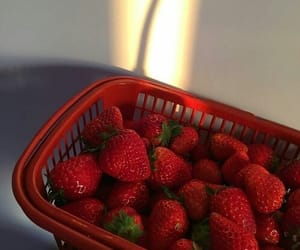 strawberry, red, and food image