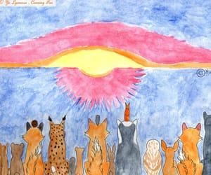 animals, sun, and aquarelle image