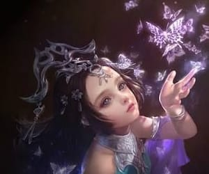 buterfly, girl, and fantasy image