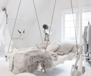 bed, home, and theme image