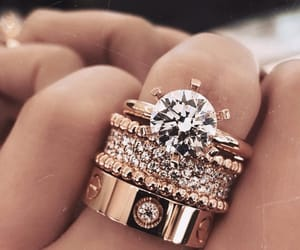 gold, rings, and luxury image