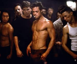 fight club, brad pitt, and fight image