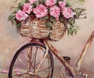 bicycles and roses image