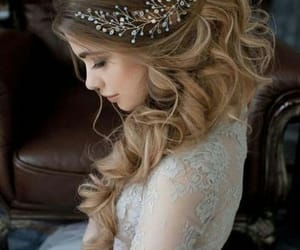 bride, hairdress, and bridal hairdress image