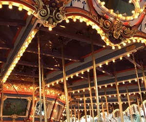 carousel, colors, and disney image