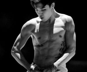 abs, thighs, and jimin image