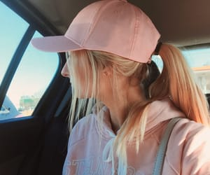 blonde, girl, and hat image