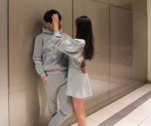 couple, korean, and cute image