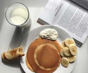 banana, book, and breakfast image
